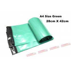 A4 size green courier bag (28 X 42cm, 10pcs)