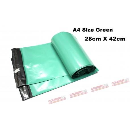 A4 size green courier bag (28 X 42cm, 10pcs)