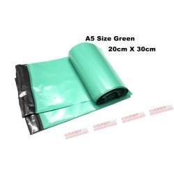 A5 size green courier bag (20 X 30cm, 10pcs)