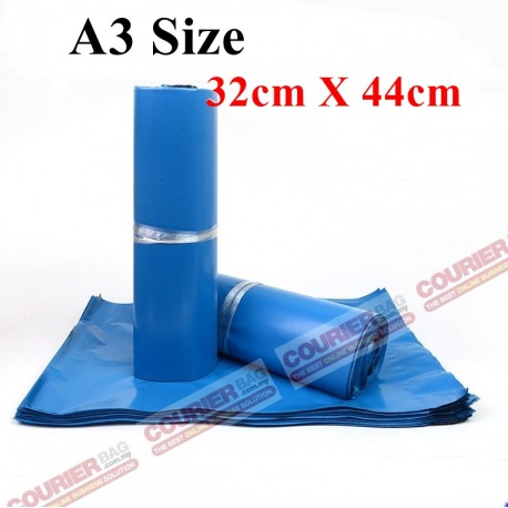 A3 size blue courier bag (32cmX44cm,10pcs)