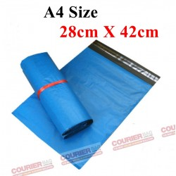 A4 size blue courier bag (28cmX42cm,10pcs)