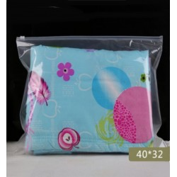 H4 Half Frosted Plastic Bag with Zip Lock (40 x 32cm)