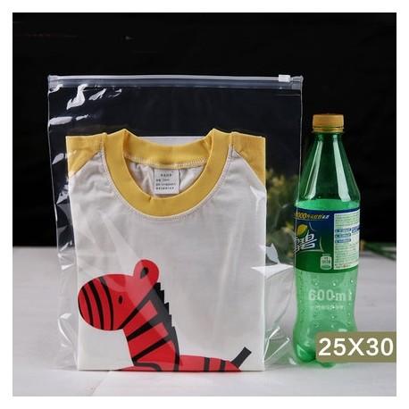 T2 Transparent Plastic Bag with Zip Lock (25cmX30cm, 1pc)