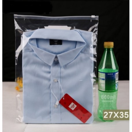 T3 Transparent Plastic Bag with Zip Lock (27cmX35cm, 1pc)
