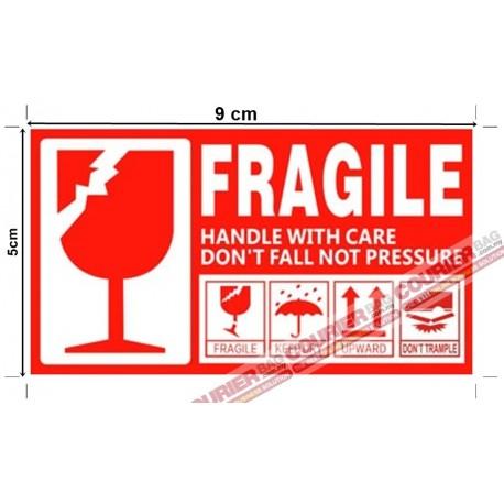 S4 Fragile Sticker White 9cm x 5cm, 60pcs