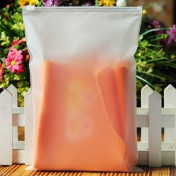 F1 Frosted Plastic Bag with Zip Lock (17 x 25cm), 1pc