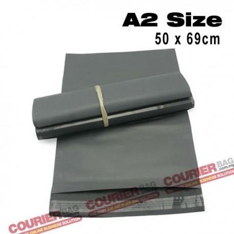A2 size black courier bag (50 x 69 cm, 100pcs)