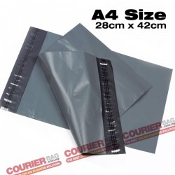 A4 size black courier bag (28 x 42 cm, 100pcs)