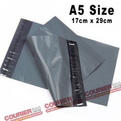 A5 size black courier bag (17 x 29 cm, 100pcs)