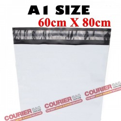 A1 size white courier bag (60 x 80 cm, 100pcs)