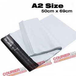 A2 size white courier bag (50 x 69 cm, 100pcs