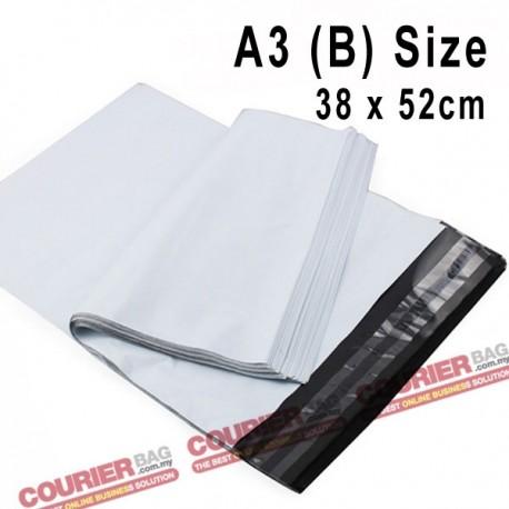 A3 (B) size white courier bag (38 x 52 cm, 100pcs)