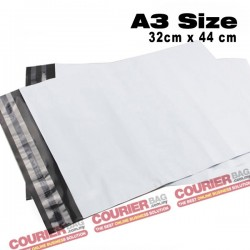 A3 size white courier bag (32 x 44 cm, 100pcs)