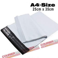 A4(s) size white courier bag (25 x 35 cm, 100pcs)