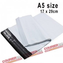 A5 size white courier bag (17 x 30 cm, 100pcs)