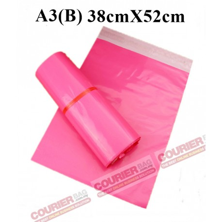A3(B) SIZE PINK COURIER BAG 38X52cm, 10pcs