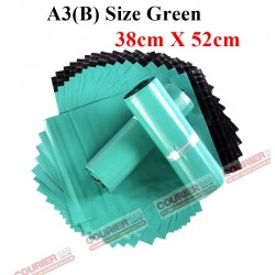 A3(B) SIZE GREEN COLOR COURIER BAG (38cmX52cm,10pcs)