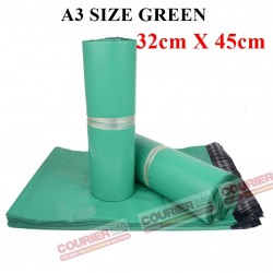 A3 SIZE GREEN COURIER BAG (32cmX45cm, 10pcs)